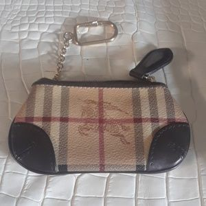 Burberry Haymarket coin case with key holder